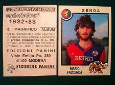 CALCIATORI 1982-83 82-1983 n 126 GENOA FACCENDA - Figurina Panini con velina