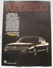 1986 Oldsmobile Tornado Original advert