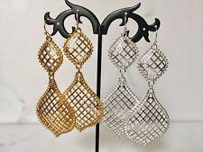 Silver Gold Large Teardrop Earrings Tribal Boho Ethnic Moroccan Ottoman Style