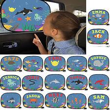 Personalised Car Window Sea Cartoon Sunshades Visor kids sun shade blind gift