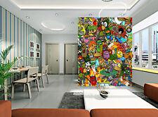 3D Dessins Animés 1 Photo Papier Peint en Autocollant Murale Plafond Chambre Art