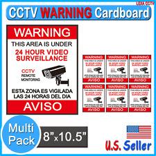 1 5 10 20 50 Pack CCTV Camera Video Surveillance Warning Sign Alert