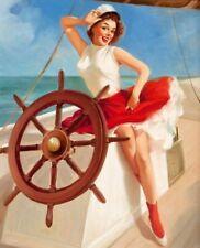 Vintage Pin-Up Sailor Girl Elvgren PINUP303 Art Poster A4 A3 A2 A1