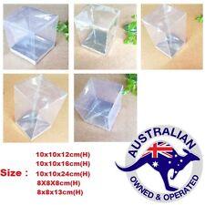 20 Clear Favour PVC Boxes Bomboniere Wedding Party 8x8x8cm,8x8x13cm,10x10x12cm