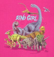 NEW DINO GIRL--Dinosaurs Jurassic T Rex Science Toddler & Kids T Shirt size 4T-L