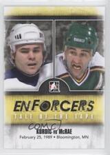 2011-12 In the Game Enforcers #48 Kordic vs McRae John Basil Hockey Card