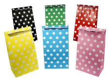 12 Sacchetti carta a pois-scegliere tra 6 Colori-Regalo Festa A Pois trattare DOLCE