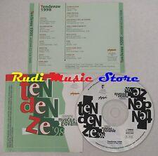 CD TENDENZE 1998 STATUTO BISCA LOSCA ALIBI LILITH ETA BETA ASSIST no mc (C12)