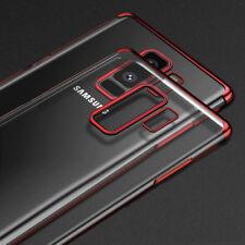 Estuche Trasparente con Bordes de Color Cover Para Samsung Galaxy Note 5 8