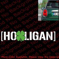 Irish Shamrock Hooligan Vinyl Die Cut Decal Lucky and Fast Mustang Subaru Rc125