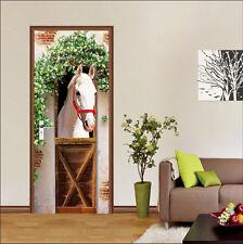 3D White Horse 603 Door Wall Mural Photo Wall Sticker Decal Wall AJ WALLPAPER AU
