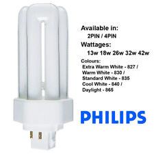 Philips Plt 2 & 4 Pin Cfl Lamp 13w 18w 26w 32w 42w 57w 70w Biax Lynx Dulux T t/E