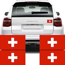 4x Bandera de Suiza coche van pegatinas (Suisse schweiz-flagge Bicicleta calcomanía gráficos)