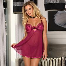 SEXY Babydoll Chemise Raspberry Open Back Plus Size  10 12 14 16 18 20 22