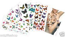 Mix Butterflies Temporary Tattoos, Elegant Butterfly Temporary Tattoos CH-A