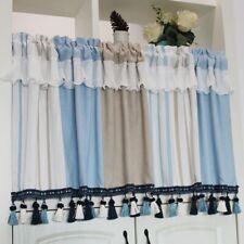 Village Falbala Short Half Curtain Valance Tassels Trim Home Kitchen Blinds DIY