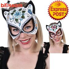AC231 Day of the Dead Eye Gatta Costume Mask Sugar Skull Senorita Halloween