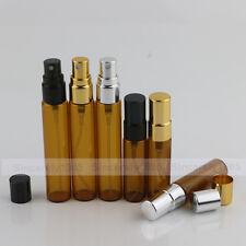 1~100X 5ml 10ml Amber Glass Bottles Alloy Spray Scientific Sprayer Aromatherapy