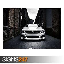 VOLKSWAGEN PASSAT CC (AA212) CAR POSTER - Photo Poster Print Art A0 A1 A2 A3 A4