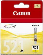 Canon CLI-521Y, Cli521 Yellow ORIGINAL OEM PIXMA CARTUCCIA A GETTO D'INCHIOSTRO