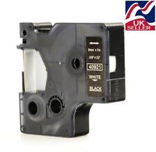 1-36x D1 tape cartridge 40921 white/black 9mmx7m for DYMO label manager printer