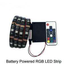 Battery powered LED Strip 5050 RGB 1M LED Flexible Strip Tape String Light DC5V