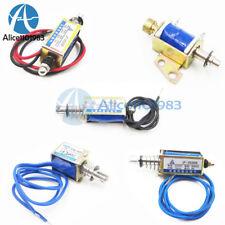 Dc6V/12V/24V Push Pull Type Open Frame Solenoid Electromagnet Reset 10mm 5N/2N