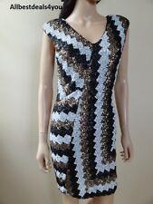 BEBE Chevron Sequin Dress Sz. XS ~ S ~ M ~ NWT ~ 200214