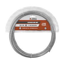 2x Pinnacle GALVANISED PVC COATED WIRE ROPE*AUS Brand-2mmx10m,3mmx10m Or 4mmx10m