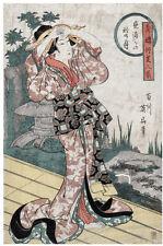 Japanese POSTER.Stylish Graphics.Geisha.Asian art.Interior Room Wall Decor.106i