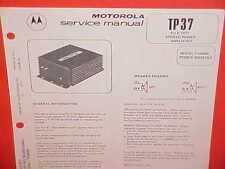 1977 MOTOROLA AUTO RADIO STEREO POWER AMPLIFIER SERVICE MANUAL BROCHURE PA4000