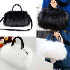 Women Ladies Faux Rabbit Fur Handbag Shoulder Messenger Bag Cross Body Tote New