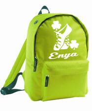 Personalised Irish Dancer Backpack Kit School Bag Dancing Birthday Rucksack