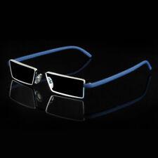 Flexible Reading Glasses Eyeglasses Blue Rimless TR90 Frame Eyewear +1.0~+4.0