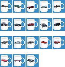 300ml Tasse en céramique avec motif : FORD USA modèles de voitures Tasse à café