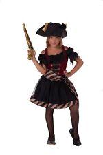 Piratin - Piraten Kostüm Kinder Mädchen rot-schwarz Karneval 27881