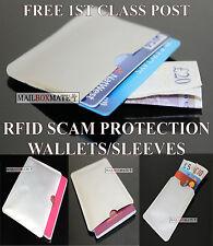 MANICOTTO RFID senza contatto Protezione Portafoglio Carta di credito & Custodia per passaporto, lotto