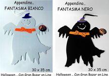 HALLOWEEN APPENDINO FANTASMINO BIANCO o NERO PARTY FESTA ALLESTIMENTO