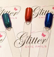 Rojo/Azul/Verde Cromado pigmentos-Arte en Uñas