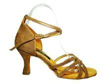 MONDIAL SHOES 05 scarpe da ballo sandali donna tacco 70/R beige pelle aperti