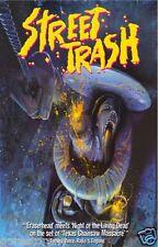 STREET TRASH Movie Poster Horror Sleaze vhs Rare