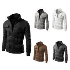TOP Fashion Mens Autumn Winter Slim Designed Lapel Cardigan Coat Jacket AU 2018