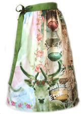 Designer Dirndl Schürze Riesenrad, silbernes Reh, grün blau rosa farben