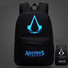 Assassin's Creed Backpack School bag Luminous Canvas Shoulders Bag Cosplay Gift