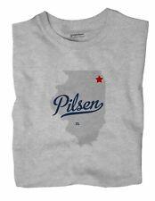 Pilsen Illinois IL Ill T-Shirt Chicago MAP