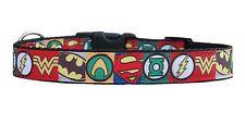 "Black ""Super Hero ""  medium large dog collar & or lead set 1"" half check collars"
