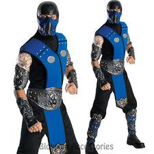 C325 Mens Mortal Kombat Subzero Ninja Fancy Halloween Costume Outfit + Mask