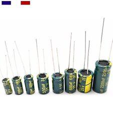 Condensateur electrochimique basse impédance LOW ESR 10V 16V 25V 35V - 105° 4pcs