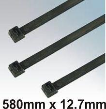 Cable Zip Ties wraps Virgin Nylon Black 580 x 12.7mm 100pcs Self-Locking TR13