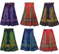 Womens Long African Cotton Dashiki Wax Skirts High Waist Maxi Ankara Print 1Size